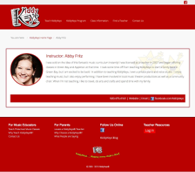KiddyKeys Web Page