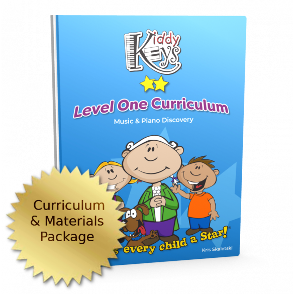 KiddyKeys Level One Curriculum and Teaching Materials Package