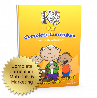 KiddyKeys Complete Curriculum, Materials, and Marketing Package
